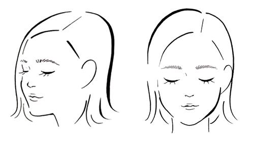 女性の顔のイラストです。