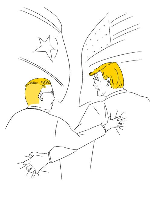 トランプと金正恩のイラスト