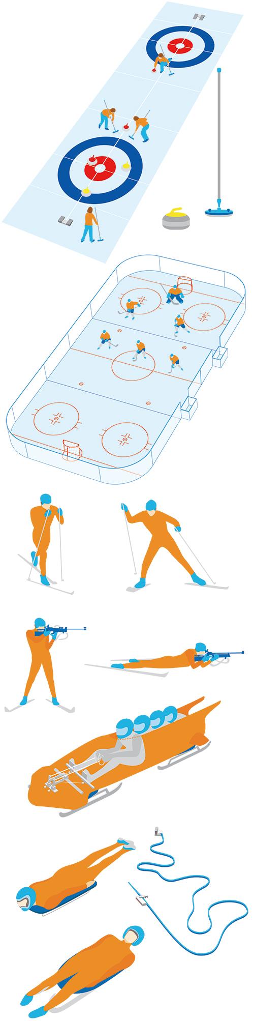 冬のオリンピックのイラスト