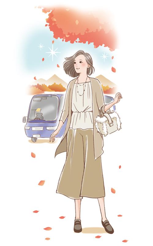 旅行している女性