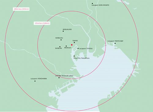 日比谷近郊の地図イラスト