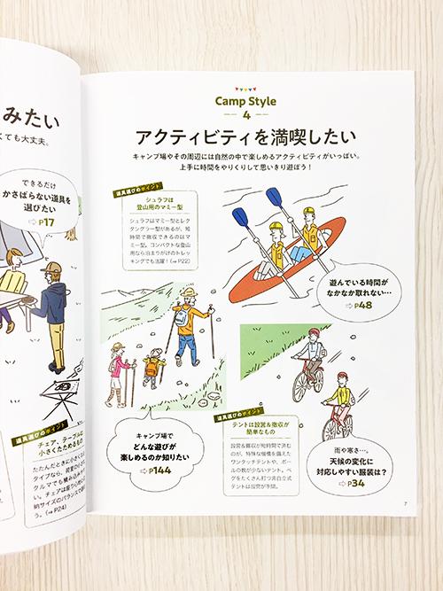 キャンプ完全ガイドのイラスト