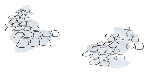 石畳のイラスト