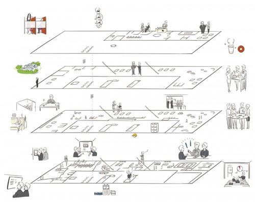 ビルのフロアマップ