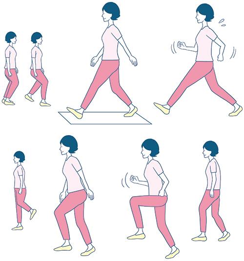 運動をしているイラスト