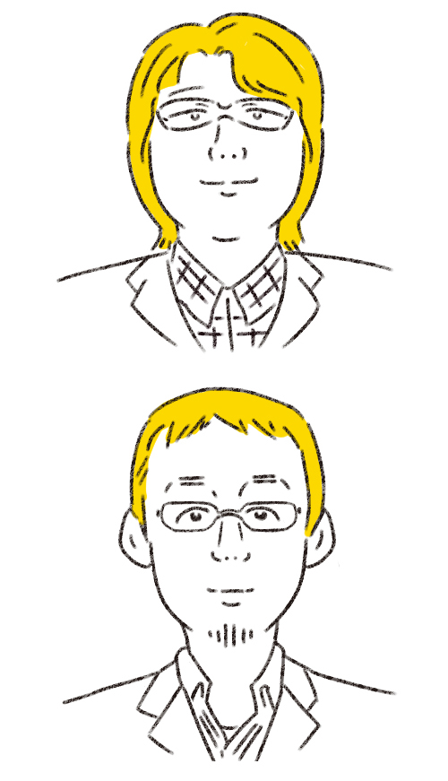 DIME識者の似顔絵イラスト