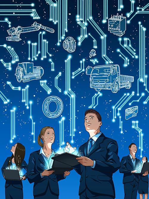 ITビジネスを想起させるイラスト