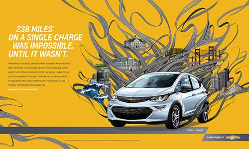 車の広告ビジュアル