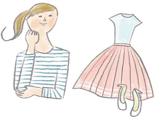 女性と洋服