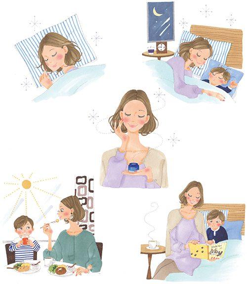 睡眠不足が子育て世代のママたち