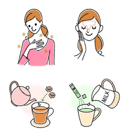 お茶とスキンケア