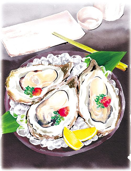 生牡蠣のイラスト