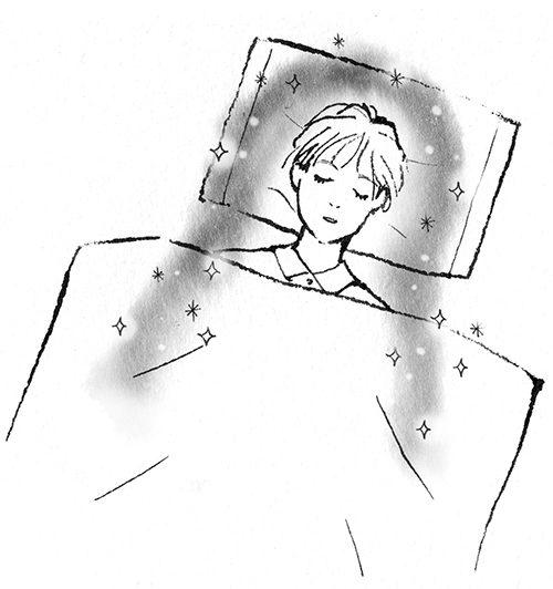 寝ているイラスト