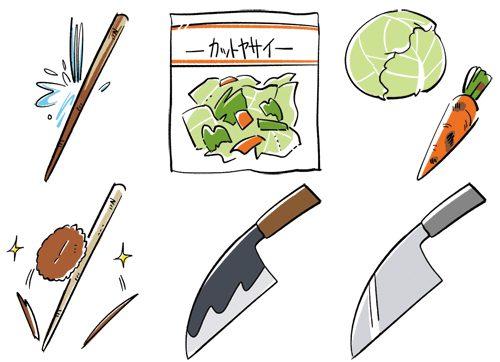 野菜と包丁