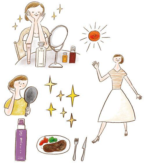 化粧品と女性