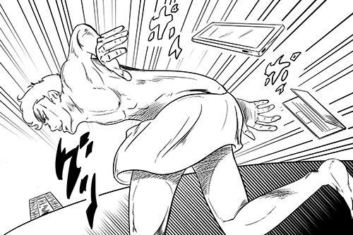 裸で走る男