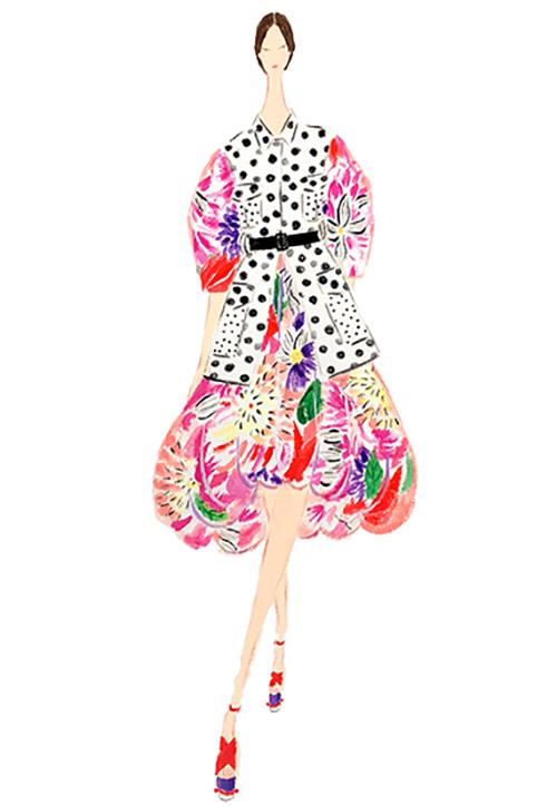 織田美涼が描いた女性イラスト