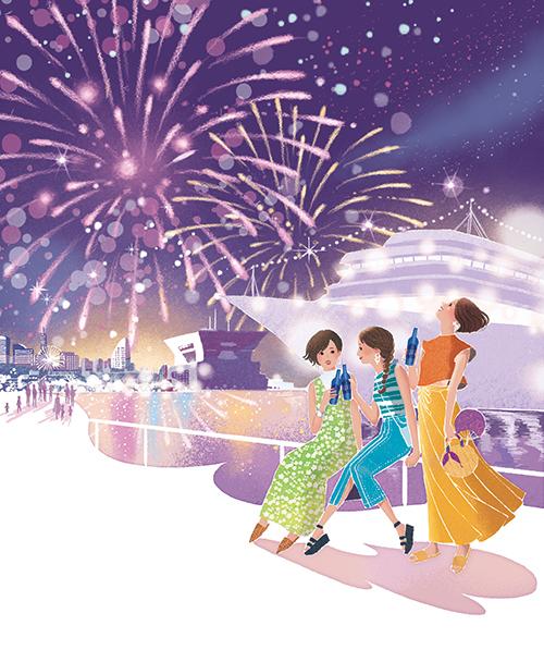 さかちさとが描いた横浜のイラスト
