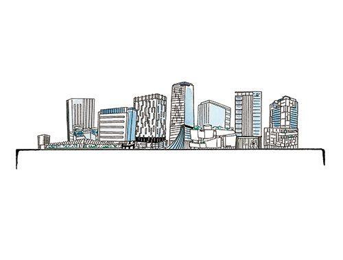 高篠裕子が描いた渋谷のイラスト