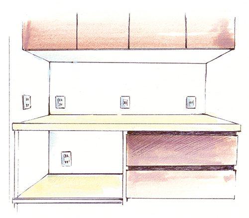 吉岡香織が描いたインテリアのイラスト