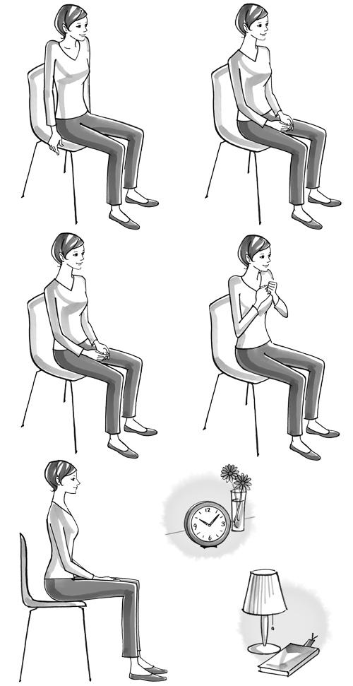イスに座った女性