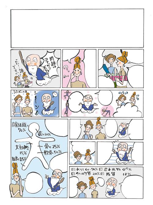 コマ割漫画のイラスト