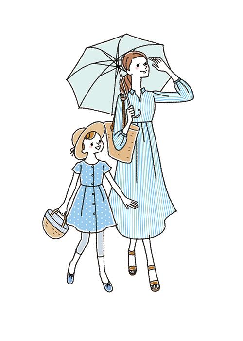 正田えり子が描いた家族のイラスト