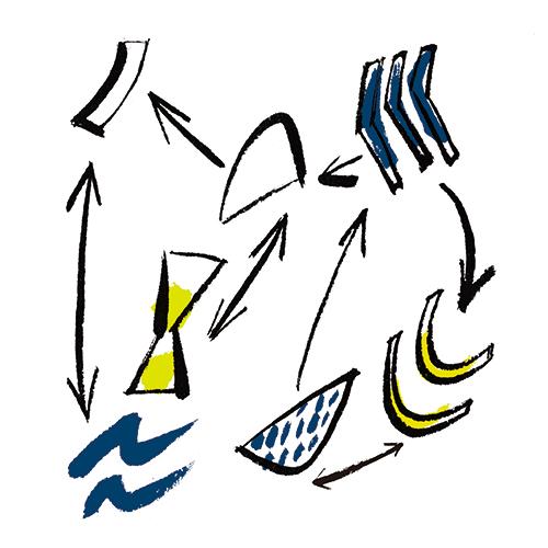 サトウアサミが描いた抽象的なイラスト