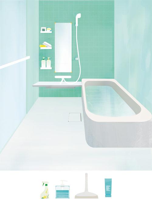 お風呂と小物