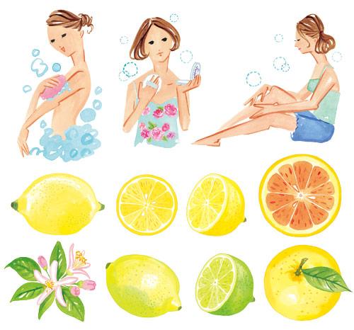 女性と柑橘系
