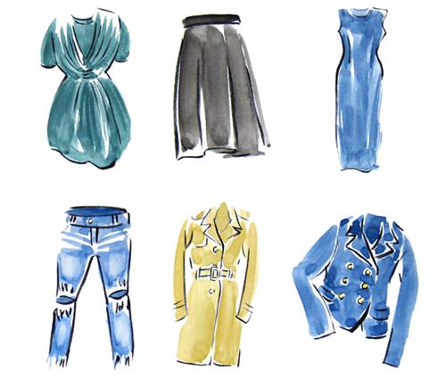 関野八千代が描いたファッションアイテムのイラスト