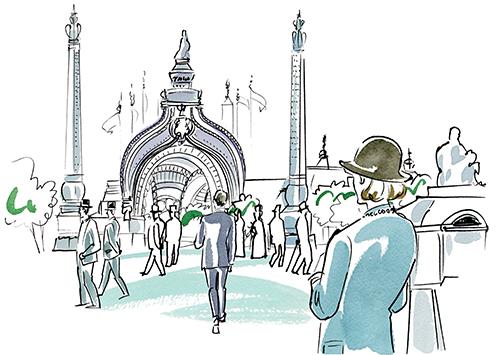 ロンドンの風景イラスト