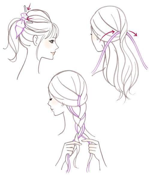 髪の結び方