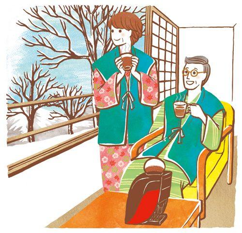 コーヒーを飲んでいる夫婦