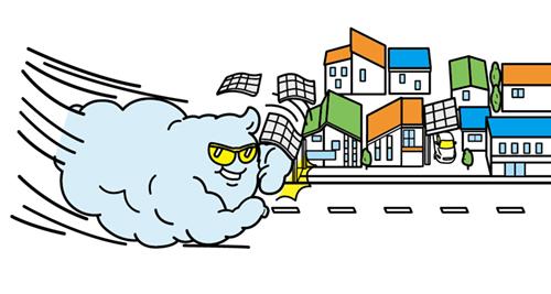 家を破壊する雲