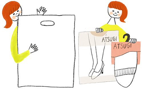 女の子が説明しているイラスト