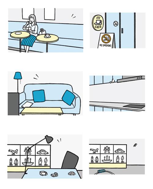 お店や部屋の背景イラスト