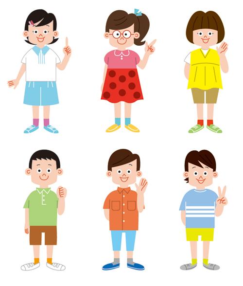 小学4年生の男の子と女の子のイラスト