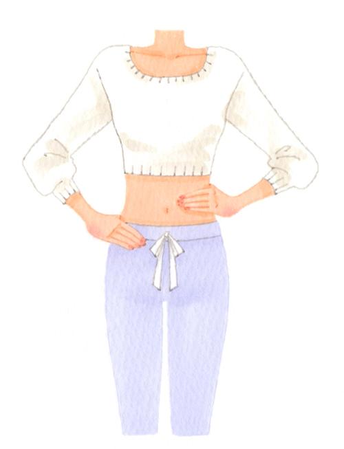 女性 身体イラスト