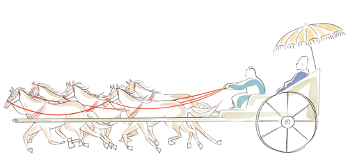 人間馬車説