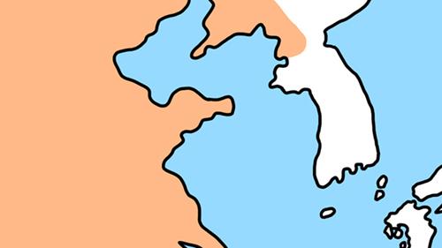 後漢の地図イラスト