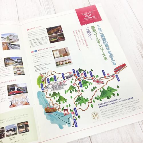 箱根のマップイラスト