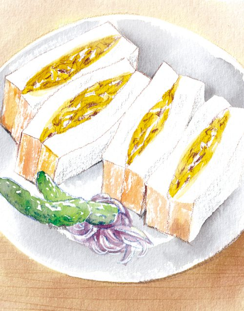 バターチキンたまごサンド