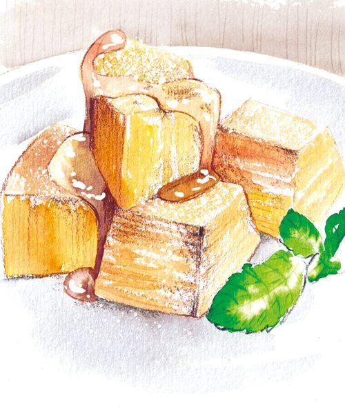 バウムクーヘンフレンチトースト