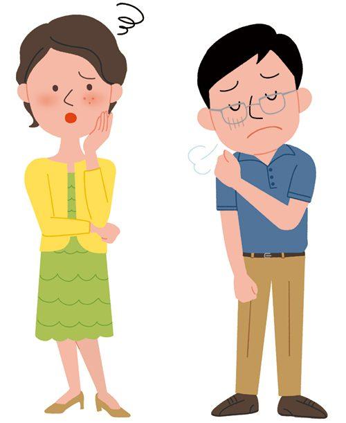 悩んでいる男性と女性