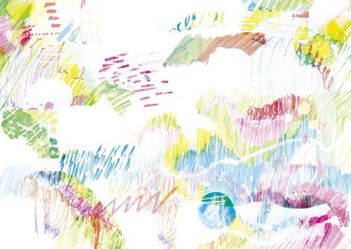 瞑想をイメージしたタムラカヨのイラスト
