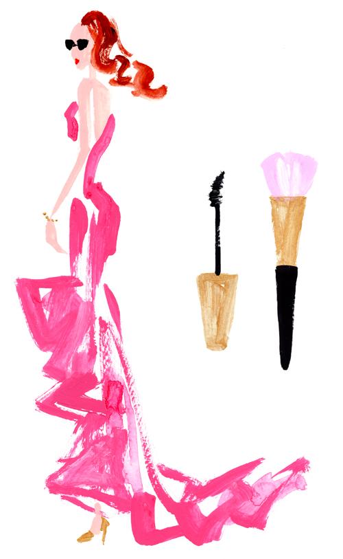 女性 化粧品 イラスト