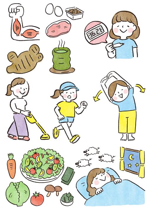 食べ物 女性イラスト