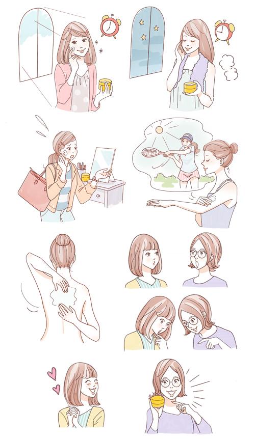 女性 シーン