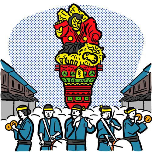 東北のお祭りのイラスト